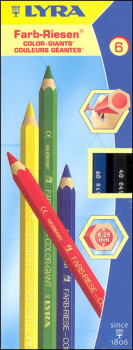 Giant Colored Pencils - 6 Colors