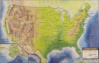"USA Double-Sided PlaceMap (10.75"" x 16.75"")"