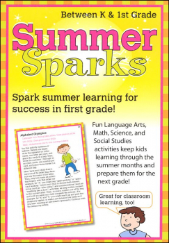 Summer Sparks Activity Cards - Between Grades K and 1