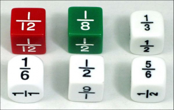 Fraction Dice (Molded 5/8 )