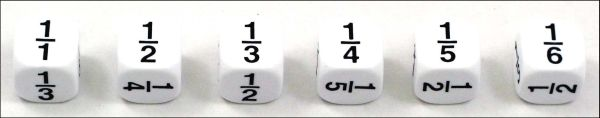 Math Fractions Dice