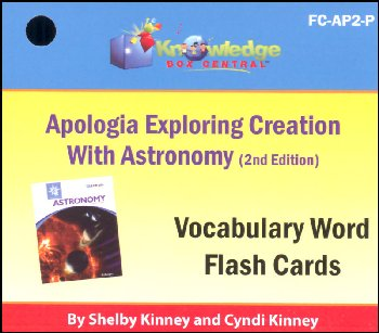 Apologia Exploring Creation with Astronomy 2nd Edition Flashcards Printed