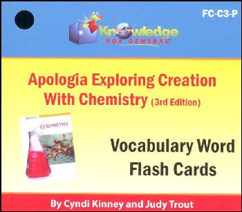 Apologia Exploring Creation With Chemistry 3rd Edition Flashcards Printed
