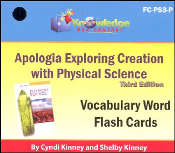 Apologia Exploring Creation with Physical Science 3rd Edition Flashcards