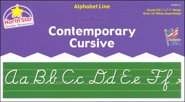 Alphabet Lines - Contemporary Cursive