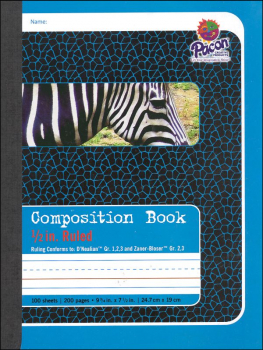 "Composition Book - D'Nealian (1-3), Zaner-Bloser (2-3) 1/2"" Ruled"