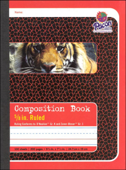 "Composition Book - D'Nealian (K), Zaner-Bloser (1) 5/8"" Ruled"