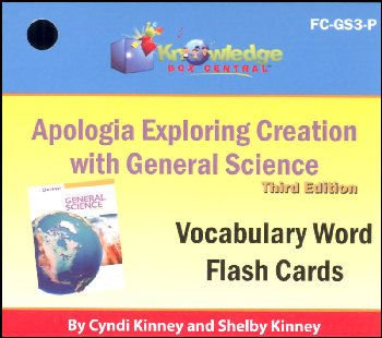Apologia General Science 3rd Edition Flashcards Printed