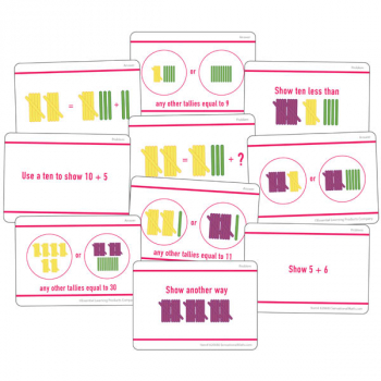 Hands-On Tally Marks Activity Card Set - Grade 1