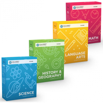 Calvert 1st Grade 4 Subject Set (History, Language Arts, Math & Science)