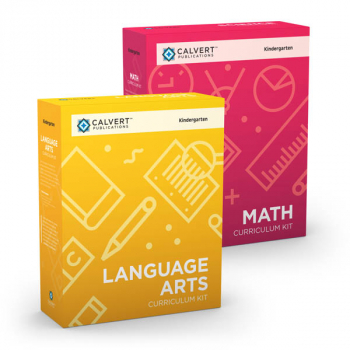 Calvert Kindergarten 2 Subject Set (Math & Language Arts)