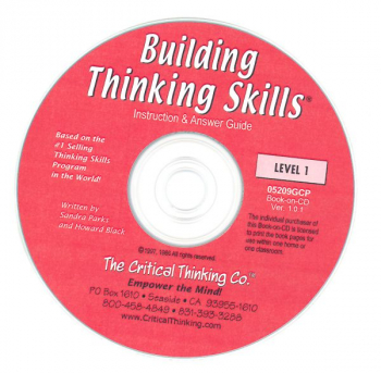 Building Thinking Skills Level 1 Teacher's Book-On-CD Grade 2-3