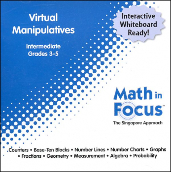 Math in Focus Intermediate Virtual Manipulatives CD-ROM (Grades 3-5)