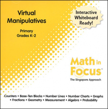 Math in Focus Primary Virtual Manipulatives CD-ROM (Grades K-2)