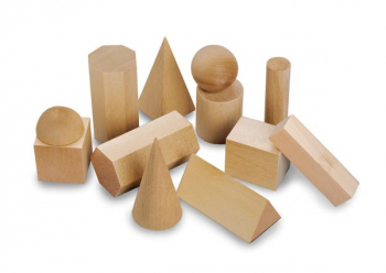 Mini Wooden Geosolids - set of 12