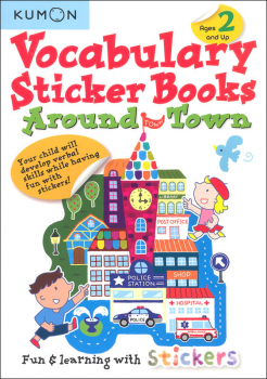 Around Town Kumon Vocabulary Sticker Book