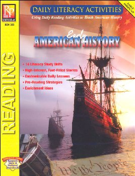 Daily Literacy Activities: Early American History