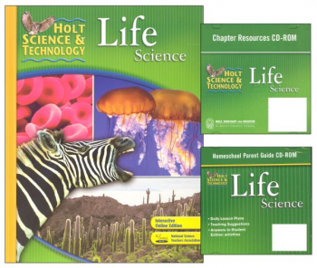 Holt Science & Technology Life Science Homeschool Package With Parent Guide CD-ROM