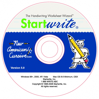 New American Cursive StartWrite Software