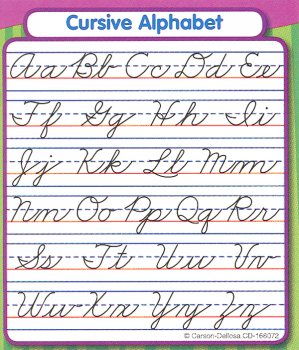 Cursive Alphabet Study Buddy Sticker