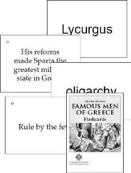 Famous Men of Greece Flashcards Second Edtn