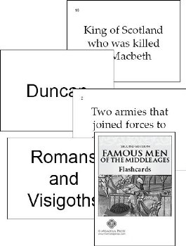 Famous Men of the Middle Ages Flashcards Second Edition
