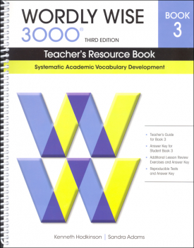 Wordly Wise 3000 3rd Edition Teacher's Resource Book 3