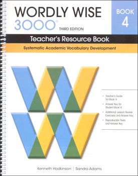Wordly Wise 3000 3rd Edition Teacher's Resource Book 4
