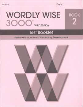 Wordly Wise 3000 3rd Edition Test Book 2