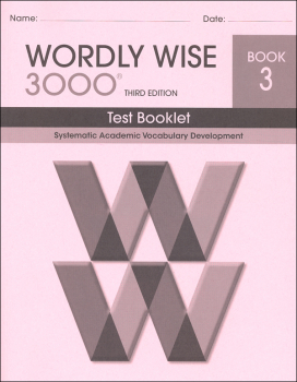 Wordly Wise 3000 3rd Edition Test Book 3