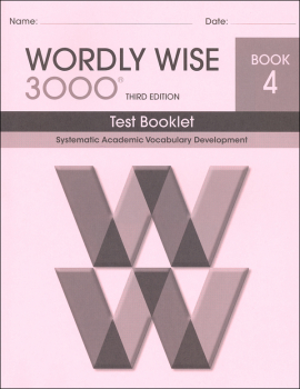 Wordly Wise 3000 3rd Edition Test Book 4