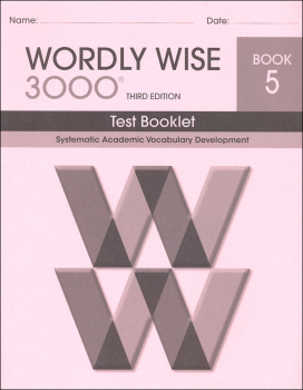 Wordly Wise 3000 3rd Edition Test Book 5