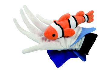 Anemone and Fish Glove Puppet