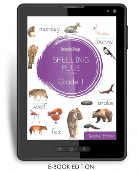 Purposeful Design Spelling Plus - Grade 1 Teacher Edition E-Book 1-year subscription