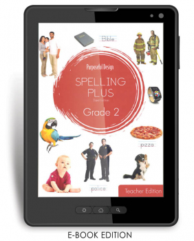 Purposeful Design Spelling Plus - Grade 2 Teacher Edition E-Book 1-year subscription