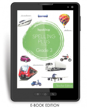 Purposeful Design Spelling Plus - Grade 3 Teacher Edition E-Book 1-year subscription