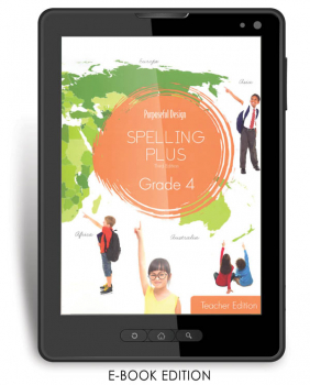Purposeful Design Spelling Plus - Grade 4 Teacher Edition E-Book 1-year subscription
