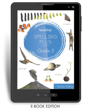 Purposeful Design Spelling Plus - Grade 5 Teacher Edition E-Book 1-year subscription