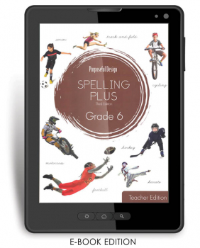 Purposeful Design Spelling Plus - Grade 6 Teacher Edition E-Book 1-year subscription