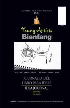"Bienfang Young Artists Idea Journal - 5 1/2"" x 8 1/2"" - half page ruled (50 sheets)"