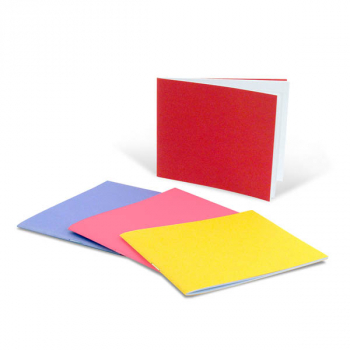 "Bright Blank Books Assorted Colors (4.25"" x 5.5"") Horizontal Package of 20"