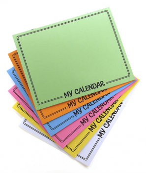 My Calendar (Make-Your-Own Book) Package of 6