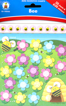 Bee Mini Incentive Chart with Stickers