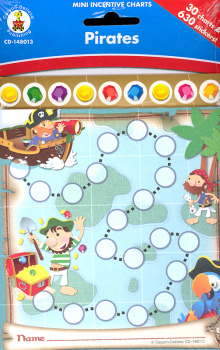 Pirates Mini Incentive Chart with Stickers