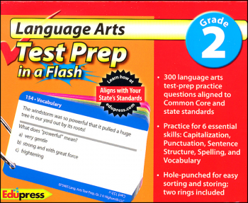 Language Arts Test Prep in a Flash - Grade 2