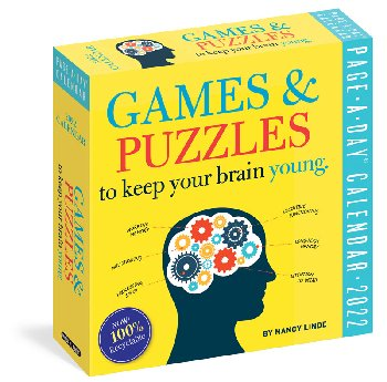 Games & Puzzles To Keep Your Brain Young Page-a-Day 2021 Calendar