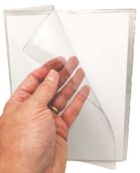 "Smart Poly Super Clear Book Cover 6""x 8"" Portrait Size"