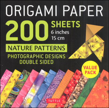 Origami Paper 200 Sheets Nature Patterns