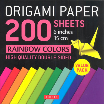 Origami Paper 200 Sheets Rainbow Colors