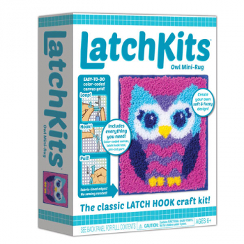 LatchKit Mini Rug Owl Craft Kit